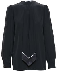Givenchy Silk Top with Necktie - Lyst