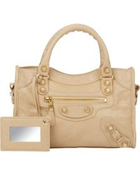 Balenciaga Arena Giant 12 Mini City beige - Lyst