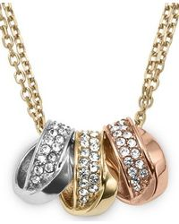 Michael Kors - 3ring Double Necklace Tritone - Lyst