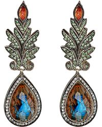 Sevan Biçakci - Women's Peacock-intaglio Drop Earrings - Lyst