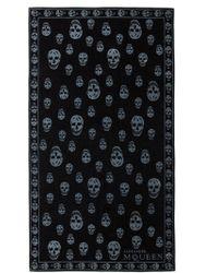Alexander McQueen Black Skull Towel - Lyst