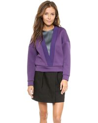 3.1 Phillip Lim Deep V Ribbed Top Tanzanite - Lyst