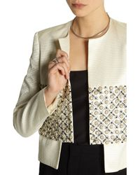 Sass & Bide - Role Play Embellished Satin-jacquard Jacket - Lyst