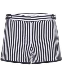 Diane Von Furstenberg Tiffany Striped Silk Shorts - Lyst