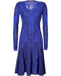 Roberto Cavalli Knit Dress in Blueblack - Lyst