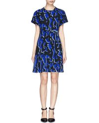 Proenza Schouler Camouflage Print Foldover Dress - Lyst