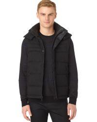 Calvin Klein Hooded Puffer Vest - Lyst