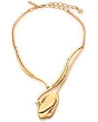 Oscar de la Renta Delicate Tulip Necklace - Lyst