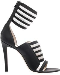 Christopher Kane Striped Anklecuff Sandals - Lyst