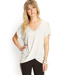 Forever 21 Draped Vneck Speckled Tee - Lyst