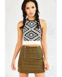 Cooperative - Jacquard-Knit Mini Skirt - Lyst