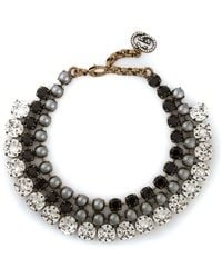 Gucci Embellished Necklace silver - Lyst