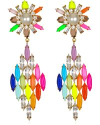 Shourouk Cobra Rainbow Earrings - Lyst