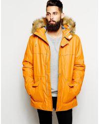 Parka London Parka With Faux Fur Hood - Lyst