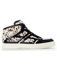 Alejandro Ingelmo Black & White Tron High-Top Sneakers - Lyst