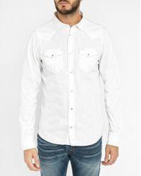 DIESEL | White New Sonora Press-stud Pockets Denim Shirt | Lyst