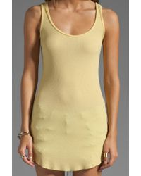 Dolan - 2x1 Rib Scoop Tank in Sun - Lyst