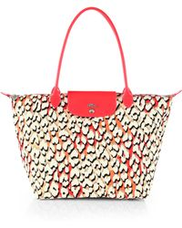 Longchamp Shield Large Pantherprint Tote - Lyst