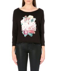 Juicy Couture Floral Graphic Sweatshirt - For Women - Lyst