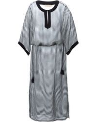 Tory Burch Stripes Contrasting Dress - Lyst