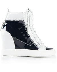 Giuseppe Zanotti Varnished Hi-Top Sneakers - Lyst