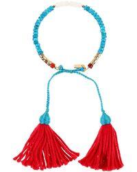 Aurelie Bidermann Bracelet blue - Lyst