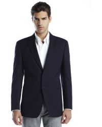 Armani Navy Two-button Woven Sport Coat - Lyst