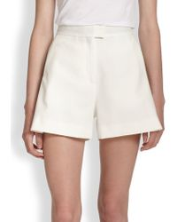 MSGM Pleated Shorts white - Lyst