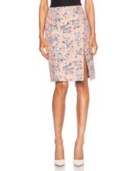 Thakoon Wrap High Waisted Viscose-blend Skirt - Lyst