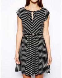 Oasis Stripe Chevron Dress - Lyst