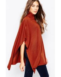 First & I - Roll Neck Cape - Lyst