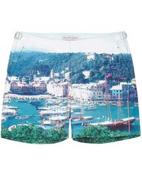 Orlebar Brown 'Bulldog Hulton Getty' Yacht Photo Print Swim Shorts multicolor - Lyst