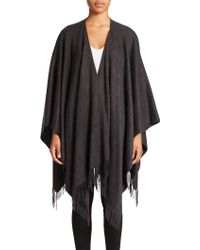 Sofia Cashmere | Fringed Cashmere Cape | Lyst