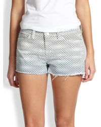 J Brand Dotprint Cutoff Denim Shorts - Lyst