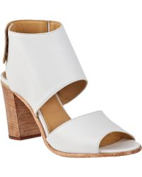 275 Central Block Heel Sandal White Leather - Lyst
