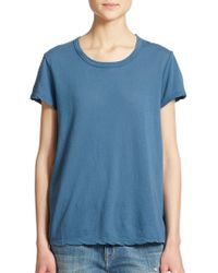 James Perse Cotton Jersey Tee blue - Lyst