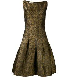Oscar de la Renta Brocade Dress - Lyst