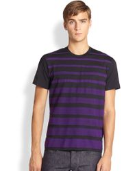Jil Sander Punch Stripe Cotton Tee - Lyst