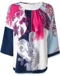Etro Floral And Paisley Print Blouse - Lyst