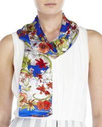 Jones New York - Silk Floral Print Scarf - Lyst
