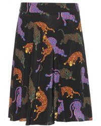Stella McCartney Printed Silk Skirt - Lyst