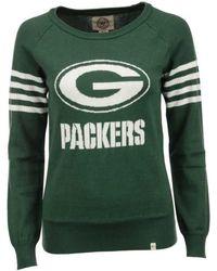 47 Brand - Women's Green Bay Packers Drop Needle Sweater - Lyst