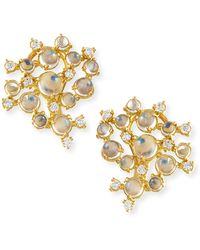 Paul Morelli - Moonstone & White Diamond Bubble Cluster Earrings - Lyst