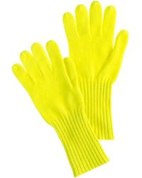 J.Crew Yellow Cashmere Gloves - Lyst