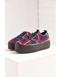 ELEVEN PARIS - Sky Tartan Platform Sneaker - Lyst