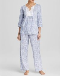 Carole Hochman - Hydrangea Garden Long Pyjama Set - Lyst