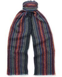 Boglioli - Striped Woven Wool-Blend Scarf - Lyst