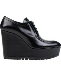 Prada Lace-Up Shoes black - Lyst