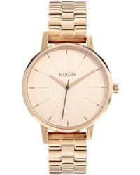 Nixon Rose Gold Kensington Watch - Lyst