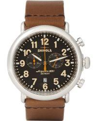 Shinola The Runwell Chronograph Watch 47mm - Lyst